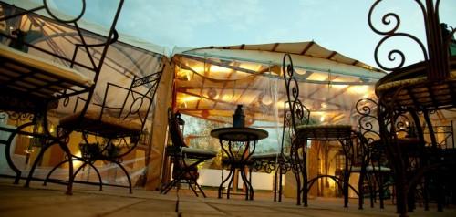 Unser Zelt an der mehrtägigen Jubiläums-Veranstaltung.